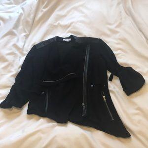 Helmut Lang Sheer Asymmetrical Jacket